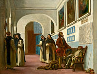 Christopher Columbus and His Son at La Rábida