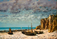 Gustave Courbet: Boats on a Beach, Etretat