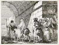 The Holy Family Passes under a City Arch, published 1753