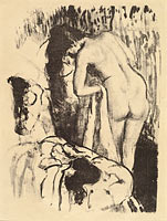 Nude Woman Standing, Drying Herself (Femme nue debout, a sa toilette) (1)