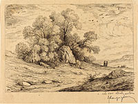 Bouquet d'arbres aux rochers (Stand of Trees with Rocks)