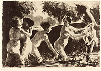 Wrestling Bathers (Baigneuses luttants)