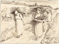 Peasants Carrying Sticks (Paysannes portant des fagots) (2)