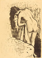 Nude Woman Standing, Drying Herself (Femme nue debout, a sa toilette) (2)