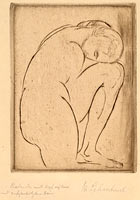 Badende mit Kopf auf Knie (Bather with Her Head on Her Knee)