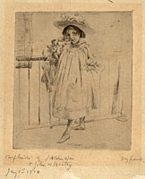 Young Girl with Large Hat