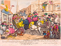 Томас Роуландсон: Miseries of London, published 1807