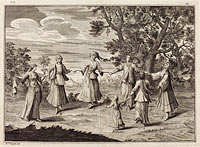A Native Dance, published 1723