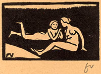 Феликс Валлоттон: Bathers on the Grass (Baigneuses étendues sur l'herbe)