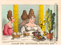 Томас Роуландсон: Madame Very Restaurateur, Palais Royal Paris