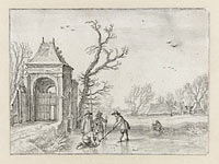 Winterlandschap, possibly Esaias van de Velde
