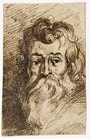 Manshoofd met lange baard, possibly Peter Paul Rubens