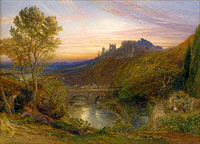 Сэмюэл Палмер: The Towered City (of: The Haunted Stream), Samuel Palmer