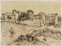 Farm in Provence, Vincent van Gogh, c. 1888