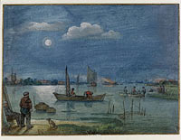 Fishermen by Moonlight, Hendrick Avercamp