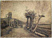 Road behind the Parsonage Garden in Nuenen, Vincent van Gogh