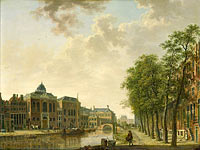 Hendrik Keun: View of the Houtmarkt in Amsterdam (1)