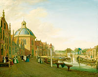 Paulus Constantijn la Fargue: The Docking Basin in the Barge Canal in Leidschendam