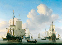 Willem van de Velde (II): Dutch Ships in a Calm (2)