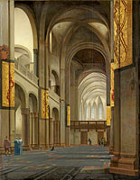 The Nave and Choir of the Mariakerk in Utrecht, The nave and choir of the Mariakerk in Utrecht, seen from the west