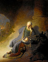 Jeremiah Lamenting the Destruction of Jerusalem, Jeremiah lamenting the destruction of Jerusalem