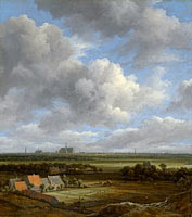 View of Haarlem from the Northwest, with the Bleaching Fields in the Foreground, View of Haarlem from the northwest, with the bleaching fields in the foreground