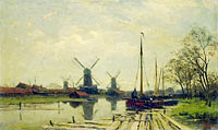 Jan Hillebrand Wijsmuller: Waterway near the Baarsjes, Amsterdam
