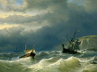 Louis Meijer: Storm in the Strait of Dover