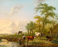Jan Kobell (II): Landscape with Cows
