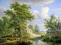 Egbert van Drielst: Farms at the Edge of a Forest