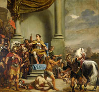 Consul Titus Manlius Torquatus Orders the Beheading of his Son, Consul Titus Manlius Torquatus has his Son Beheaded
