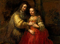 Isaac and Rebecca, Known as 'The Jewish Bride', Portrait of a couple as figures from the Old Testament, known as 'The Jewish bride'