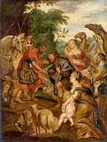 Peter Paul Rubens: The reconciliation of Jacob and Esau