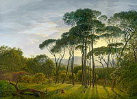 Hendrik Voogd: Italian Landscape with Umbrella Pines
