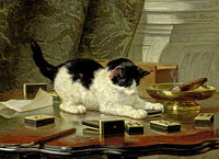 Henriëtte Ronner-Knip: The cat at play