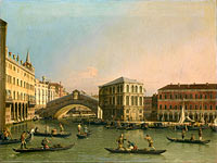 Canaletto: Grand Canal with the Rialto Bridge and Fondaco dei Tedeschi