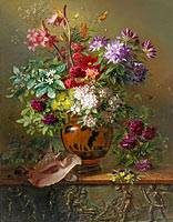 Георг Якоб Иоганн ван Ос: Still Life with Flowers in a Greek Vase: Allegory of Spring