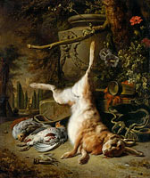 Still Life with Hare and other Hunting Trophies