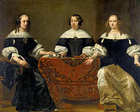 Portrait of the Three Regentesses of the Leprozenhuis, Amsterdam