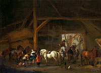 Philips Wouwerman: A Horse Stable