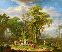 Arcadian Landscape with a Ceremonial Sacrifice