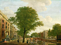 View of the Herengracht at Leidsestraat in Amsterdam
