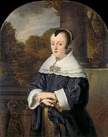 Portrait of Maria Rey, Wife of Roelof Meulenaer