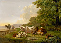 Питер Герардус ван Ос: Landscape with Cattle (1)