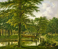 Wybrand Hendriks: View of the New Canal at the Bulwark in Haarlem