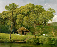 Wouter Johannes van Troostwijk: A Barn on the Bank of a Stream in Gelderland