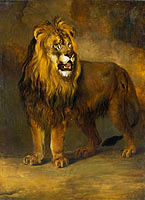 Питер Герардус ван Ос: Lion, from the Menagerie of Napoleon III, Emperor of the French