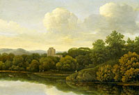Johan de Lagoor: Wooded Landscape with River