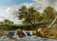 Якоб Исаакс ван Рёйсдал: Landscape with Waterfall, Landscape with waterfall