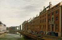 Геррит Андриенс Беркхейде: The 'Golden Bend' in the Herengracht, Amsterdam, Seen from the West